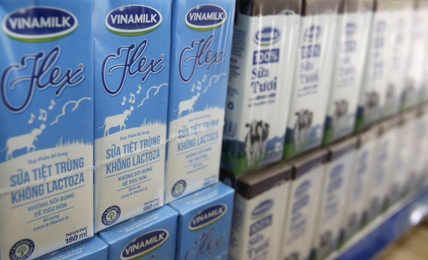 A file photo shows Vinamilk products on sale in Vietnam. Photo: Reuters